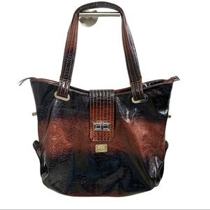 D & G Look-a-Like Patent Leather Tote Bag